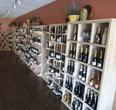 Wine Racks on the Long Back Wall