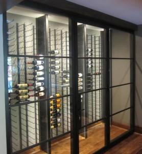 22. Iron and Glass Custom Wine Cellar Dallas Texas Project