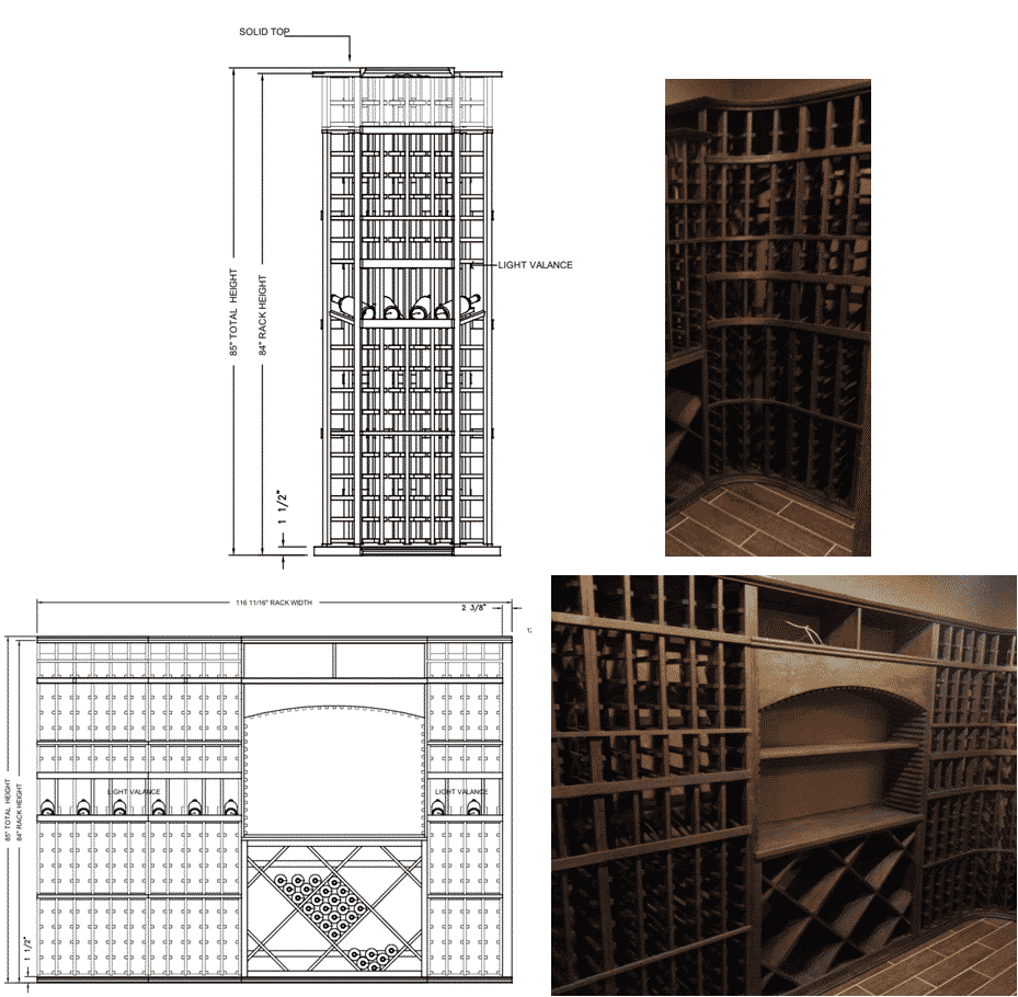 View all traditional kit wine racks offered by Wine Cellar Specialists.