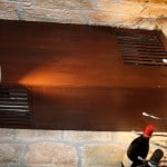 US Cellar Systems Cooling Units Hidden - Mahogany with Chestnut Stain Lacquer Grill Cover Box