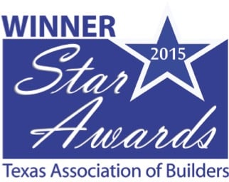 Winner of the Star Awards Texas Associate of Builders for Wine Cellar