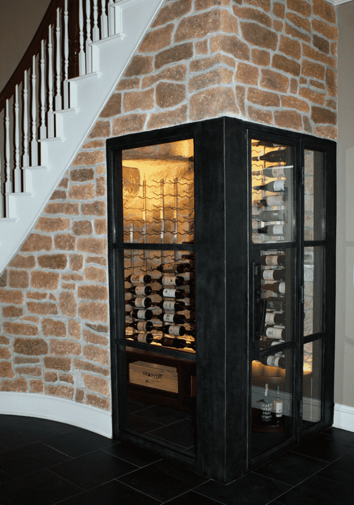 Wine Cellar Design and StoneCoast Finish Coppell Texas Dallas Project