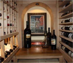 26. Custom Storage Closet Wine Cellar Conversion Project Texas