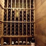 Back Wall Wine Racking View with Tabletop Wine Room Dallas Texas