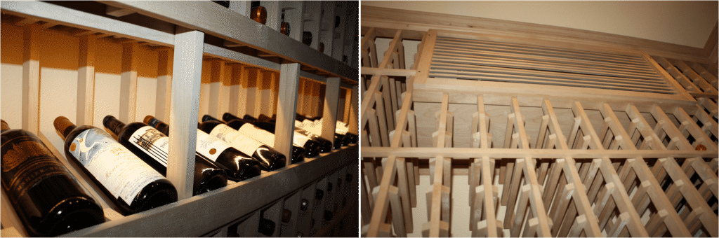 custom wine rack design_Williams Texas wine cellar left wall