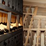 Custom wine rack design Williams Texas wine cellar left wall