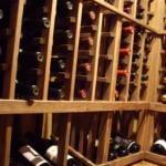 Close up of the Wine Rack Display Row
