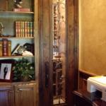 Stunning Glass Wrought Iron Custom Wine Room Door
