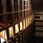 12 Curved racks with led lighted wine cellar display
