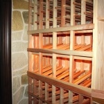 12.Custom Redwood Wine Racks in Colleyville, Texas Project