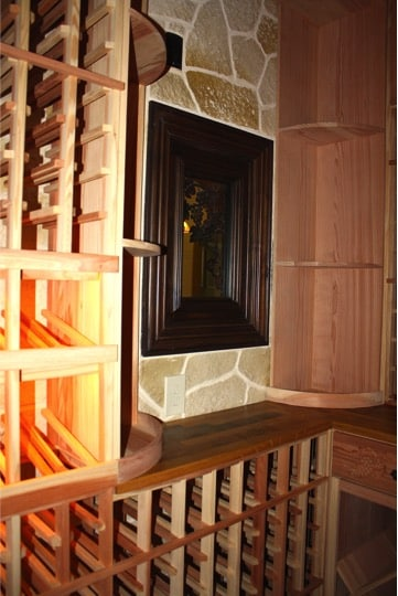 18.Wine Cellar with Window to Kitchen in Colleyville, Texas Project