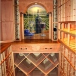 21. Decorative Custom Back Wall of Wine Room in Colleyville Project