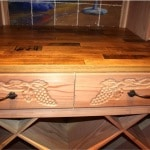 24. Custom Wine Cellar Designed Drawers and Cooperage Tabletop and Racking