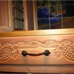 25. Residential Wine Cellar Custom Drawers with Decorative Woodwork