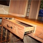 26. Home Wine Cellar Custom Drawers with European Self-Closing Slide Hardware