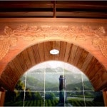 29. Custom Wine Cellar - Solid Arch with Wine Carving - Colleyville, Texas