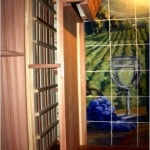 31. Wood and Glass Wine Racks and Arch by Wine Cellar Specialists