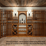 Showcase Project  - Kit & Custom Combination Wine Rack Design for a Home in Minnetonka Minnesota Minneapolis