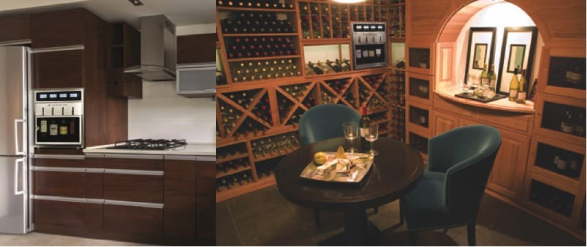 Elegant home wine storage and dispensing options by WineStation.