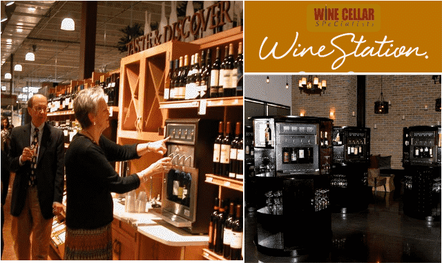 Wine Cellar Specialists commercial wine dispensing system