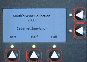 WineStation wine dispensing system LCD display