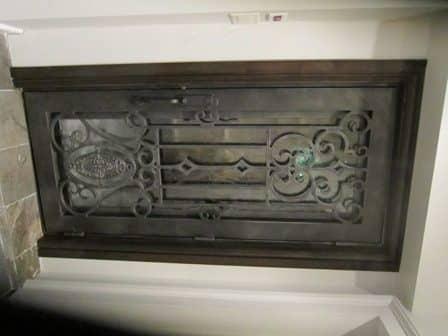 1Dallas Diamond iron door with design modifications