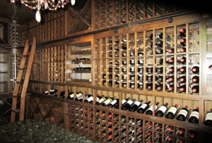 30. Wine Cellar Installation Designed for a Carriage House