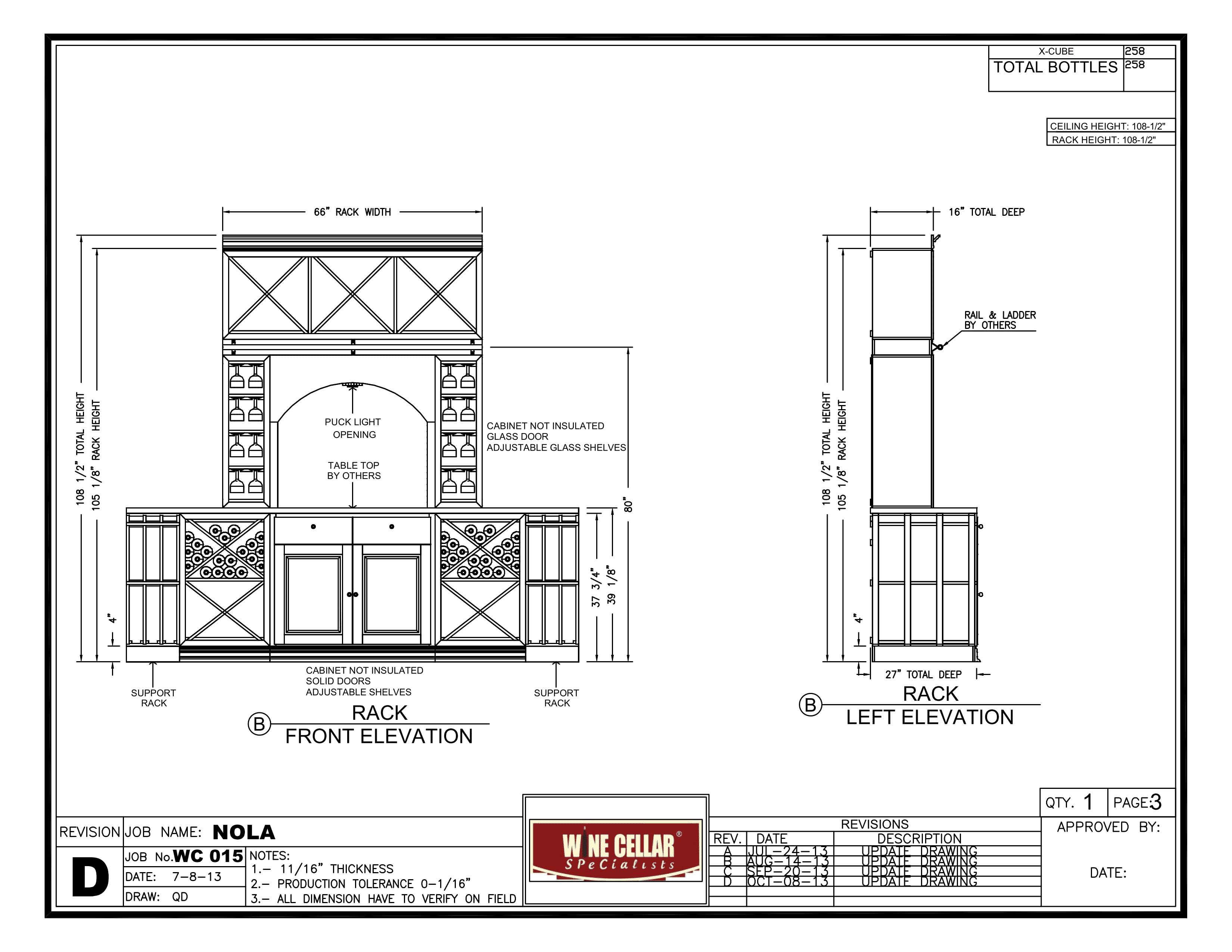ELEVATION B New Orleans wine cellar