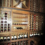French style racking cubes New Orleans wine cellar