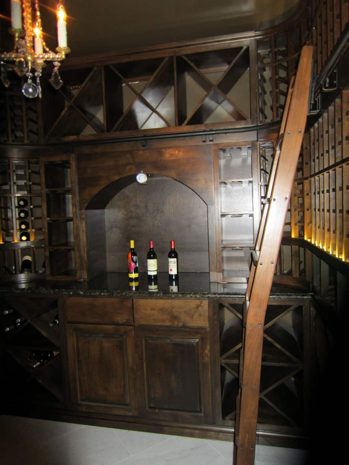 New Orleans Custom Wine Cellar Installation Designed for a Carriage House in the French Quarter Small