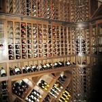 Rolling Ladder Rail, Diamond Bins, Display Row and Individual Bottle Racks New Orleans Wine Rack Design