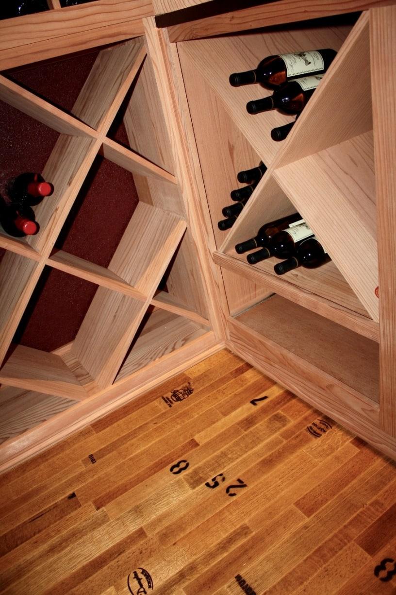 diiamond X-bin storage and case storage wine racks Texas wine cellar