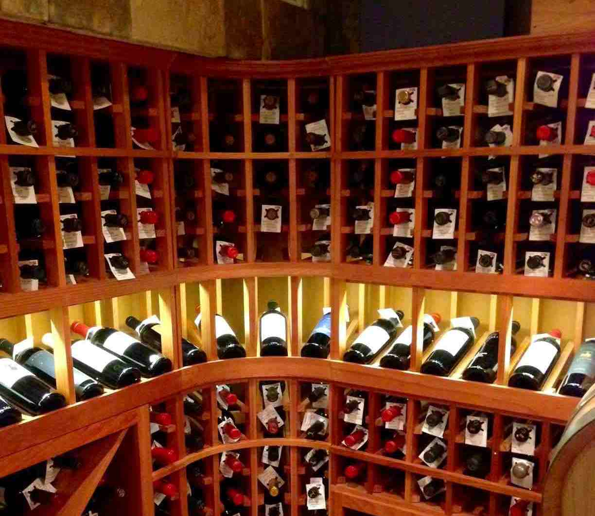 LED Puck Light and Display Row Lighting Wine Cellar Chicago