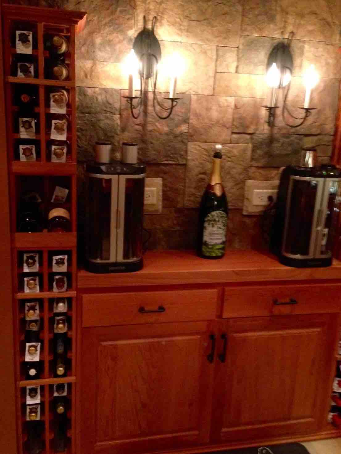 The Corking Station for Basement Wine Cellar