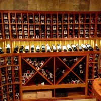 7 - Wine Racks and Bins - Lighted Display Row, Solid X cubes and Case Storage