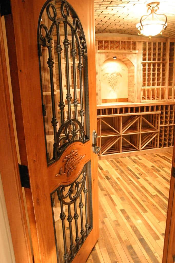 Wine Cellar Door and Flooring Must Be Insulated