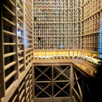 Frisco, Texas custom wine cellar under the staircase with mahogany racks (Interior)