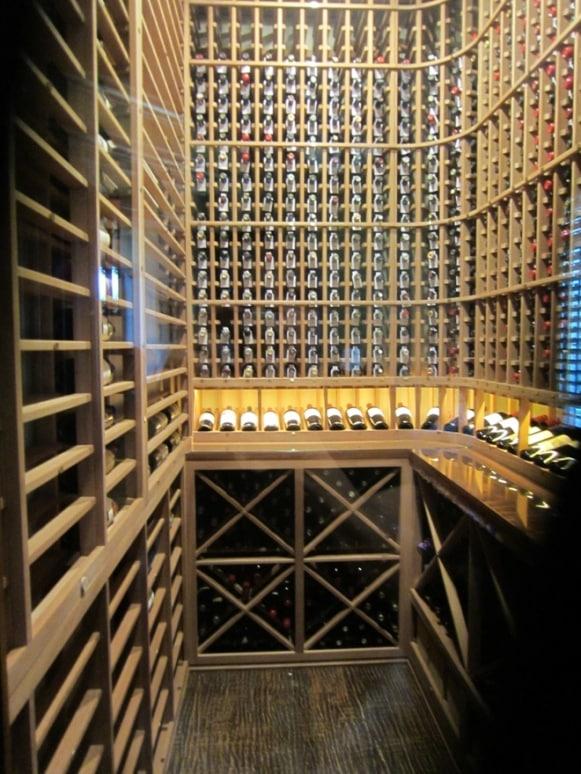 Captivating Custom Wine Cellar Transforms Home Office in Frisco, Texas.