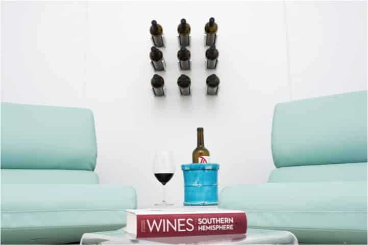 For contemporary wine tasting rooms, you can't go wrong with Vino Rails by VintageView.