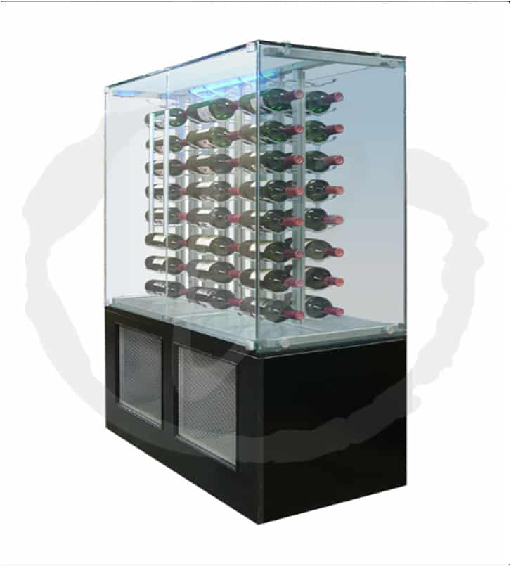 Custom Glass Wine Cabinet by Vinotemp