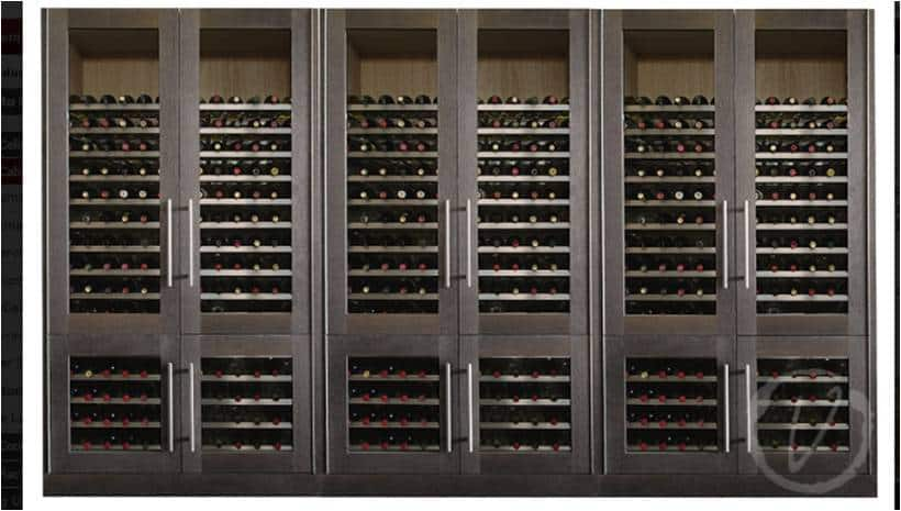 Grey Metal Shelf Custom Wine Cabinet
