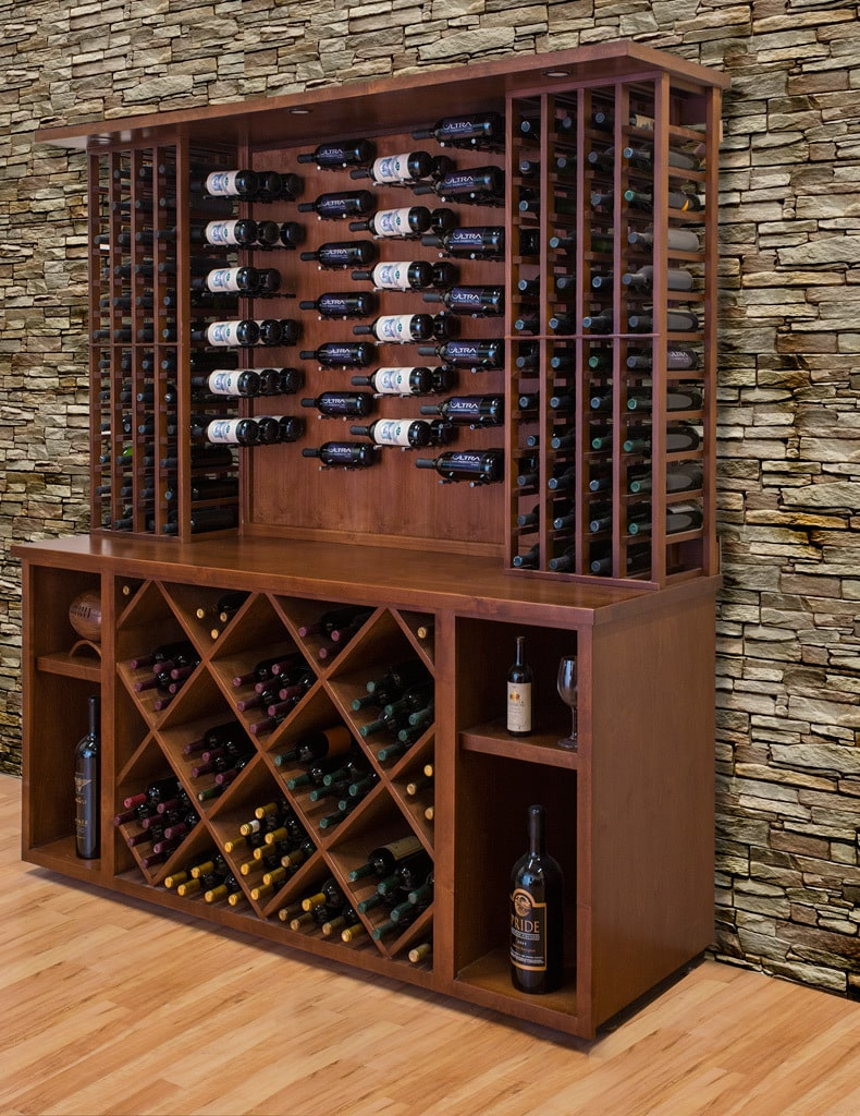 Ultra PEG HZ Series contemporary metal wine racks