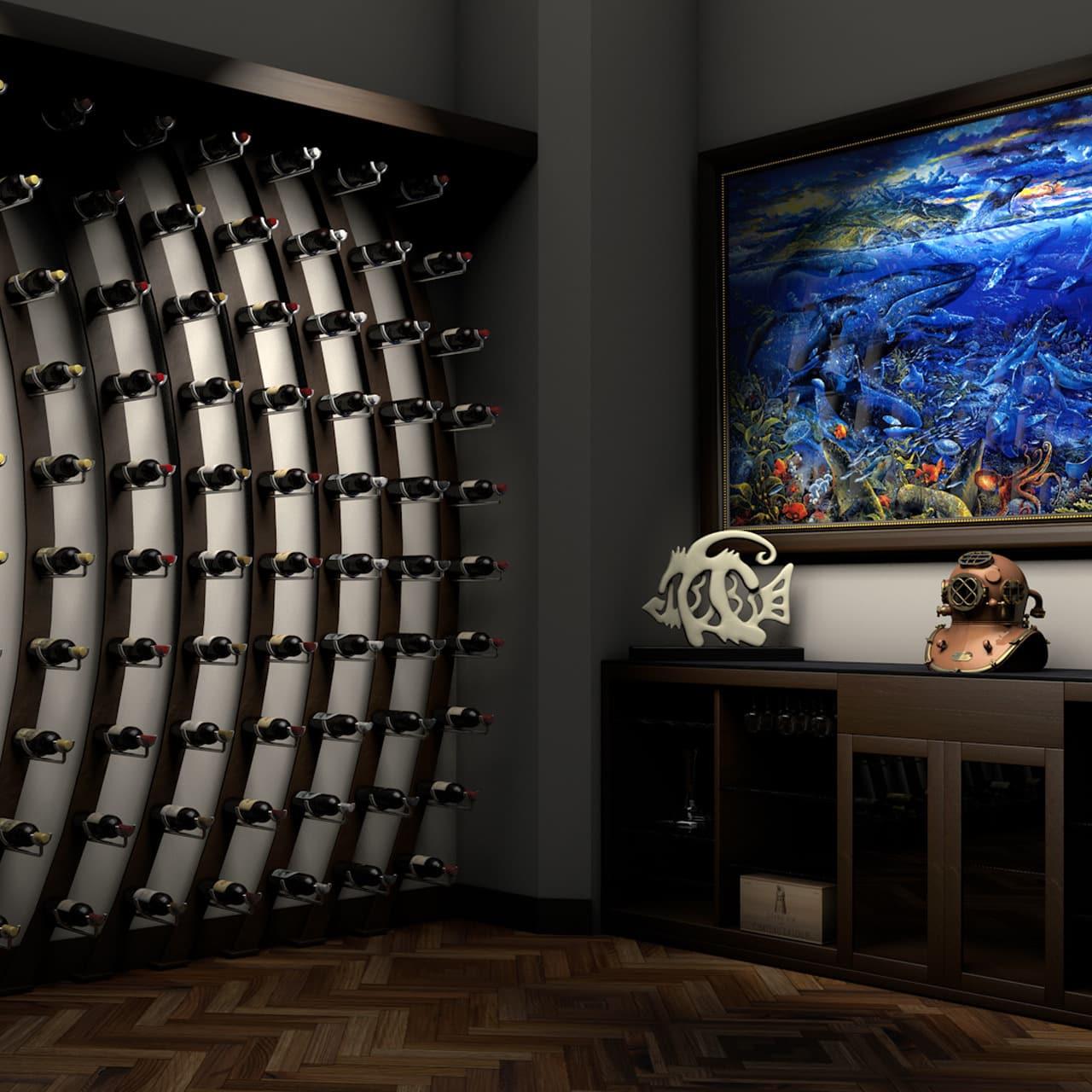 Ultra PEG Wine Saddle Series metal wine racks