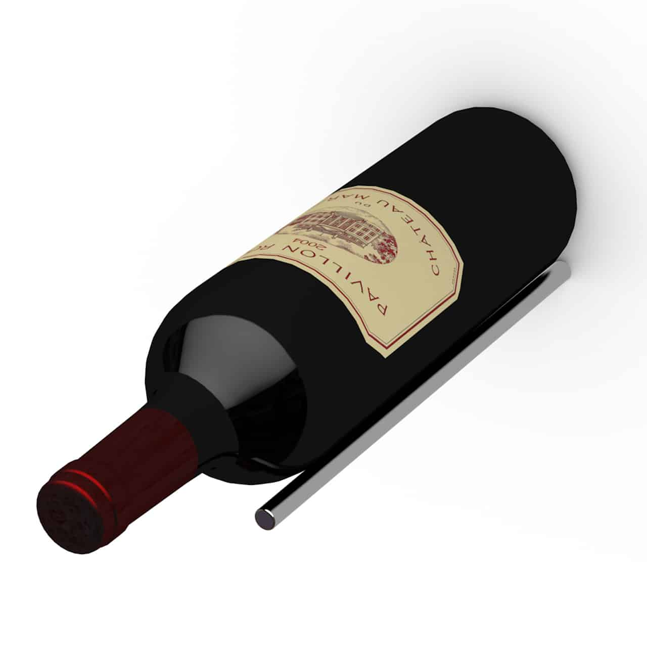 The Ultra Peg series hold the bottles with the neck out. At capacity, a Ultra Peg designed wine cellar gives the illusion that the bottles are actually floating.
