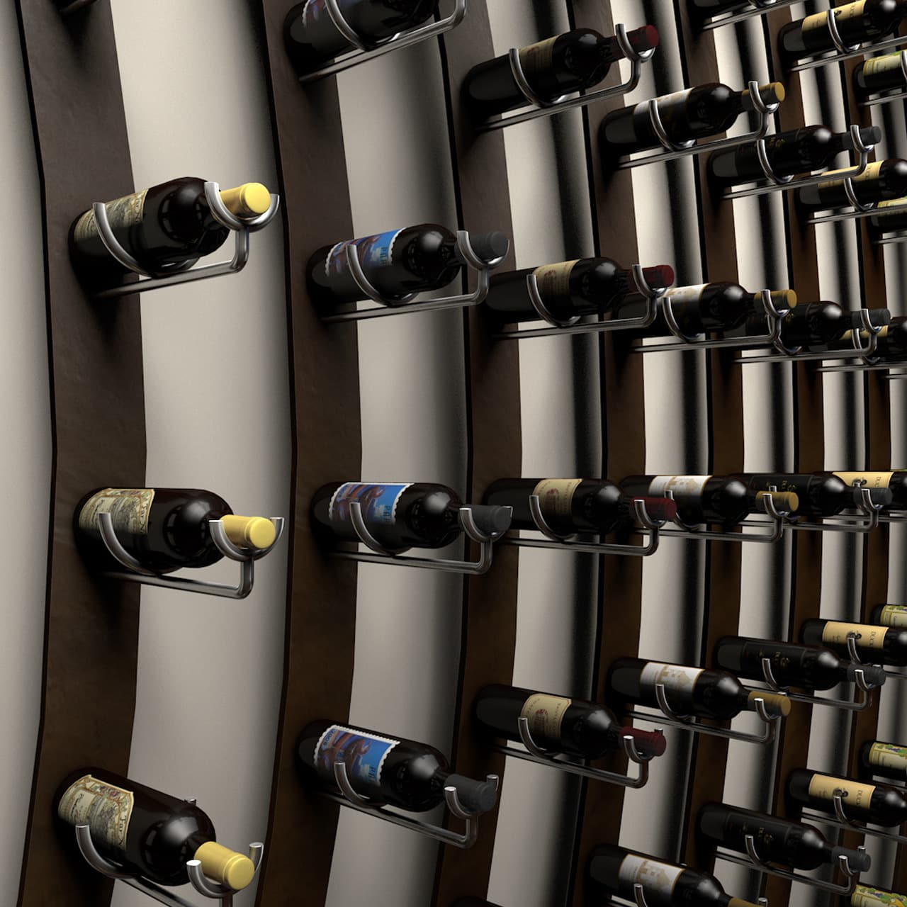 Ultra PEG Wine Saddle Series Metal Racking System