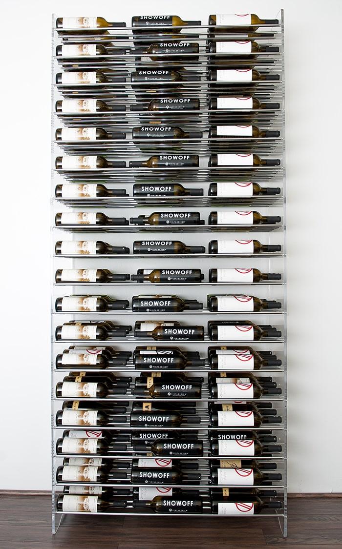 Modern 8-Foot Evolution Series Metal Wine Racks