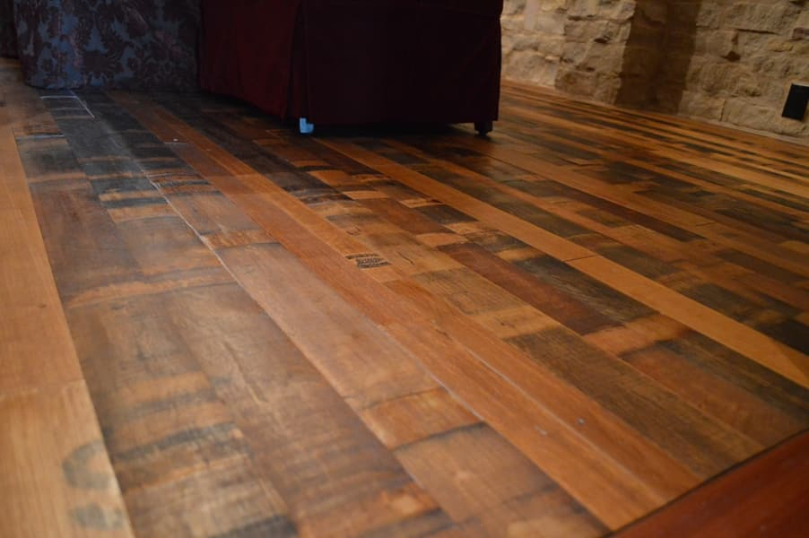 Reclaimed Wine Barrel Flooring