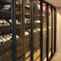Sliding metal wine  racks