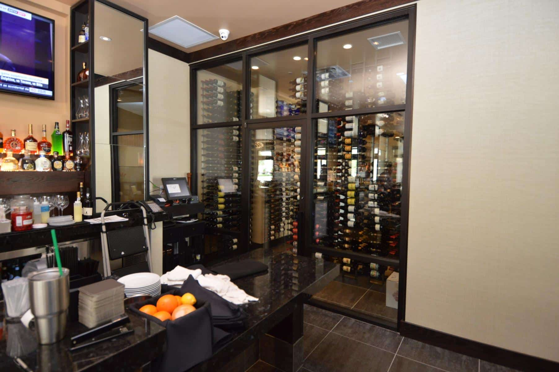 A view from Outside the Commercial Wine Cellar