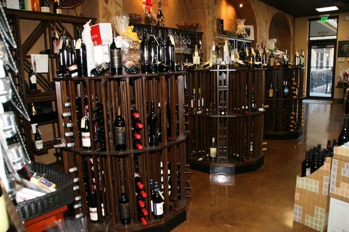 Commercial  Round Aisle Wine Racks Bistro de la Reine Louisiana